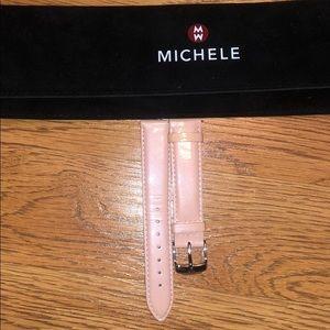 Pink Michele Watch Band